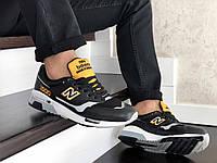 Мужские кроссовки  New Balance 1500 ( реплика) черные с желтым, фото 1