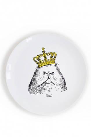 Тарелка Кот в короне, фото 2
