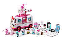 Hello Kitty Набор спасателей Jada с вертолетом и скорой помощью
