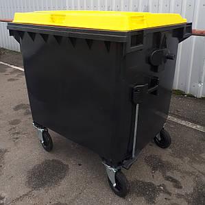 Б/У пластиковий євроконтейнер для сміття 1100 л.