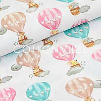 Хлопковая ткань Воздушные шары, мышки, фото 1