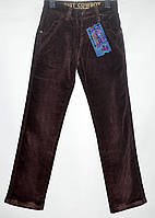Вельветовые штаны для мальчика 4-8 лет коричневые модель - 28113
