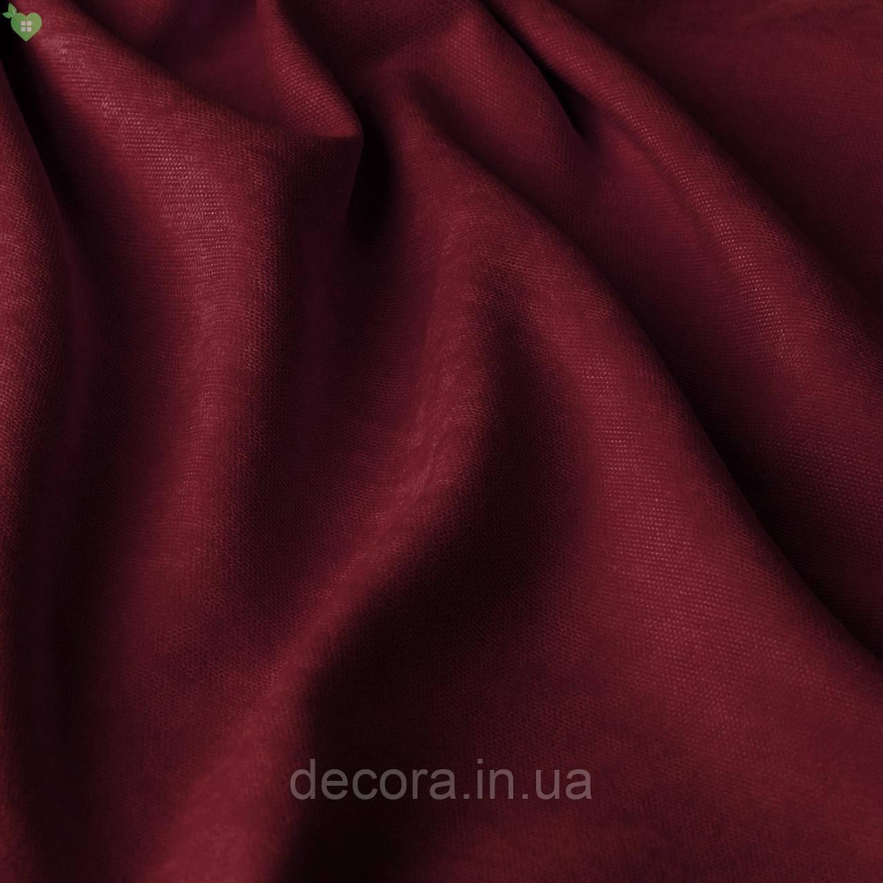 Римська штора із однотонної тканини велюр, бордовий 121000v9