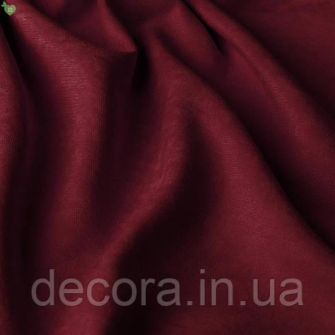 Римська штора із однотонної тканини велюр, бордовий 121000v9, фото 2