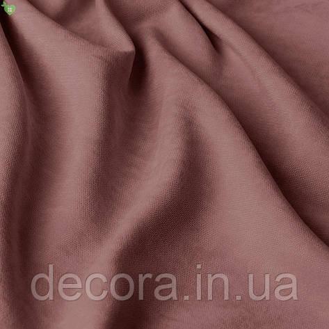 Римська штора із однотонної тканини велюр, бузковий 121000v14, фото 2
