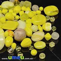 Бусины чешское стекло Preciosa 92-Mix4 Yellow-1, 1 уп (25 г) (BUS-036616)
