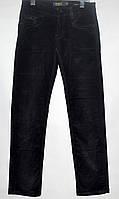 Вельветовые штаны для мальчика 7-12 лет черные модель - 28114