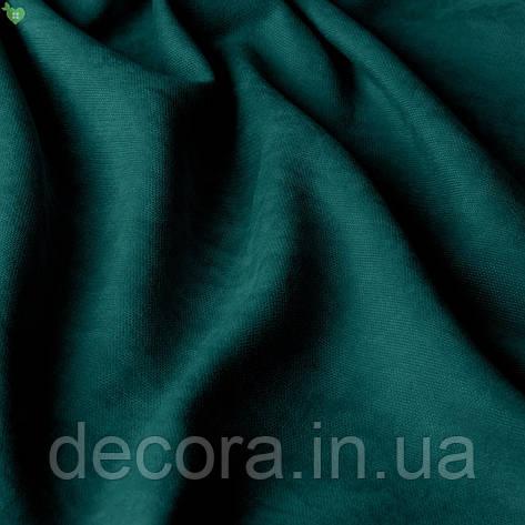 Римська штора із однотонної тканини велюр, темний смарагд 121000v22, фото 2