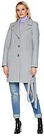 Женское демисезонное пальто NIO Collection Влада Серый, кашемировое пальто в клетку