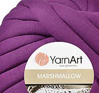 Толстая пряжа шнур трикотажная YarnArt Marshmallow 915 фиолетовый (Ярнарт Маршмеллоу)