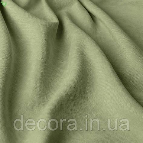 Однотонна декоративна тканина велюр білого кольору, Туреччина 121000v25, фото 2