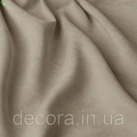 Римська штора із однотонної тканини велюр, сіро-бежевий 121000v29, фото 2