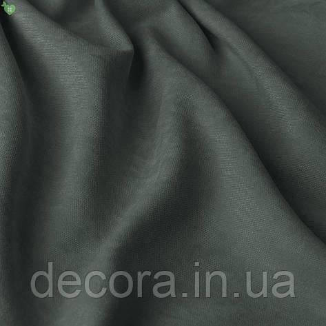 Римська штора із однотонної тканини велюр, темно-сірий 121000v35, фото 2
