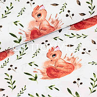 Хлопковая ткань Белочки, фото 1