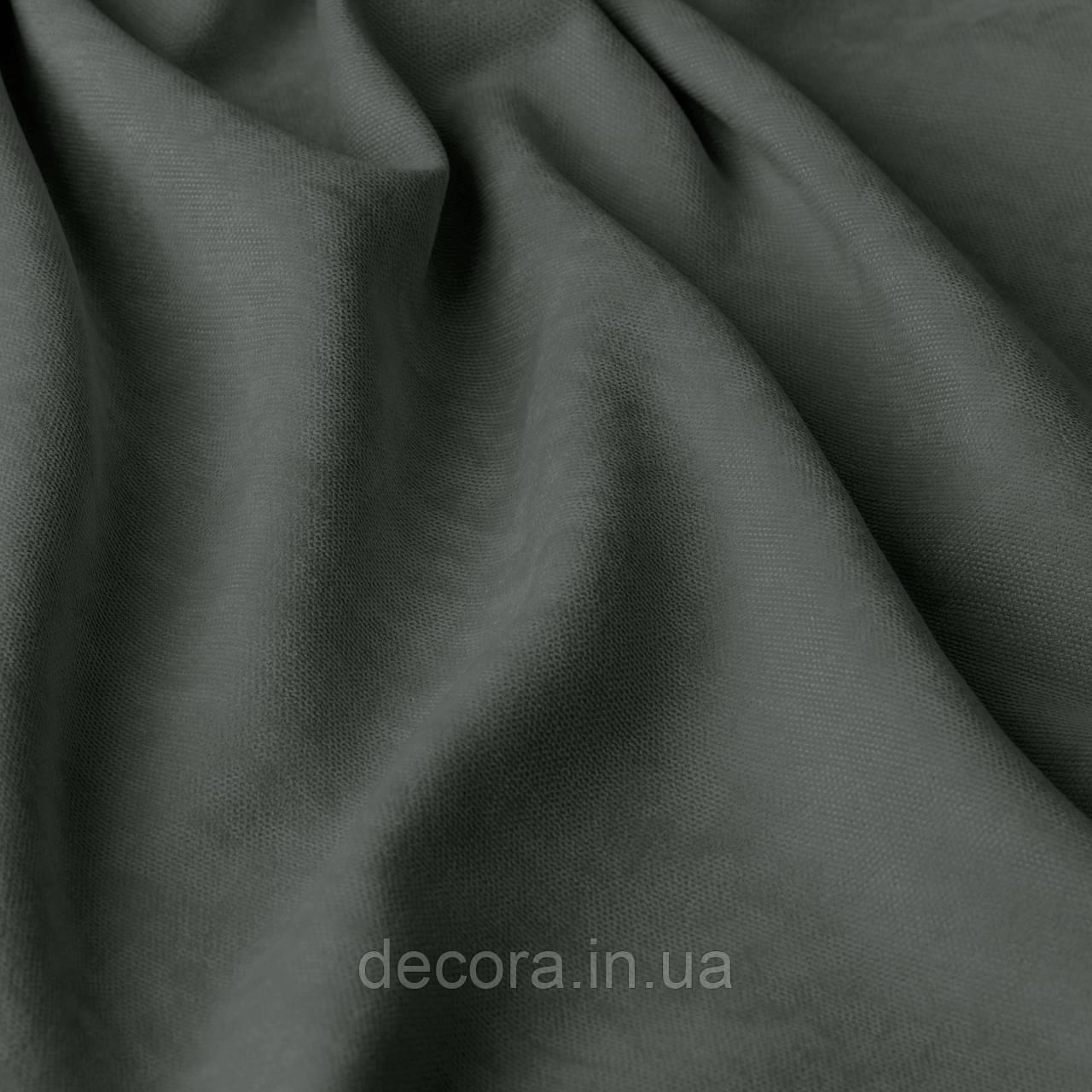 Однотонна декоративна тканина велюр білого кольору, Туреччина 121000v39