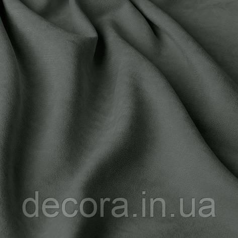 Однотонна декоративна тканина велюр білого кольору, Туреччина 121000v39, фото 2