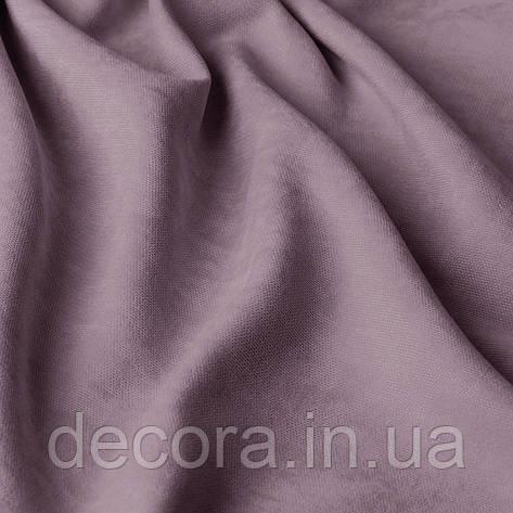 Римська штора із однотонної тканини велюр, світло-лавандовий 121000v46, фото 2