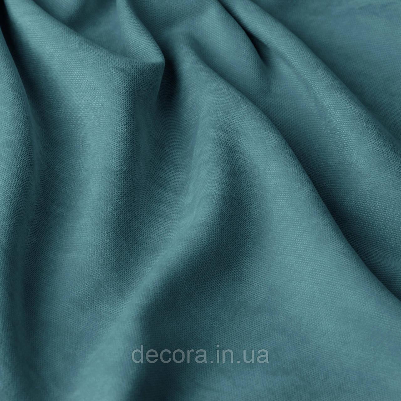 Римська штора із однотонної тканини велюр, голубий 121000v48