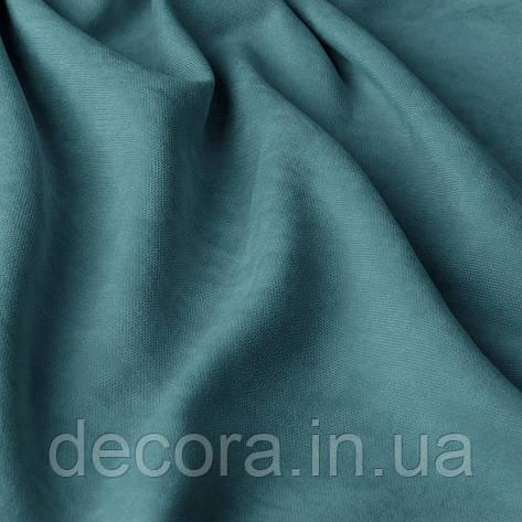 Римська штора із однотонної тканини велюр, голубий 121000v48, фото 2