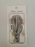 Кольца с жемчугом в волосы