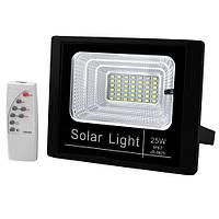 Прожектор JD-8825 25W SMD, IP67, солнечная батарея, пульт ДУ, встроенный аккумулятор, фото 1