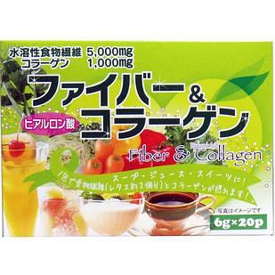 HIKARI клетчатка, коллаген, гиалуроновая к-та, овощи 20 пакетов по 6 гр