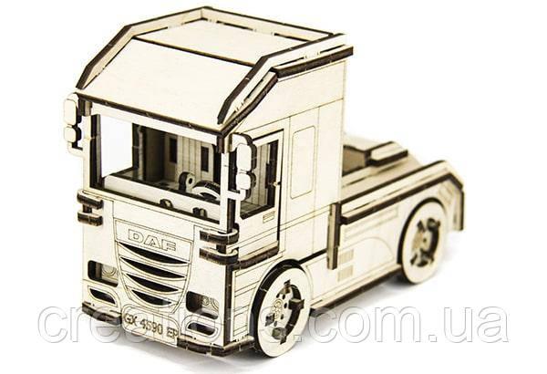 """Конструктор пазлы из дерева """"грузовик тягач"""" для детей и взрослых"""