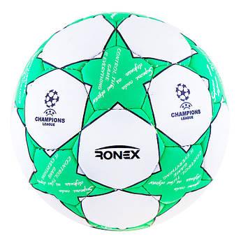 Мяч футбольный Grippy Ronex , голубой.???