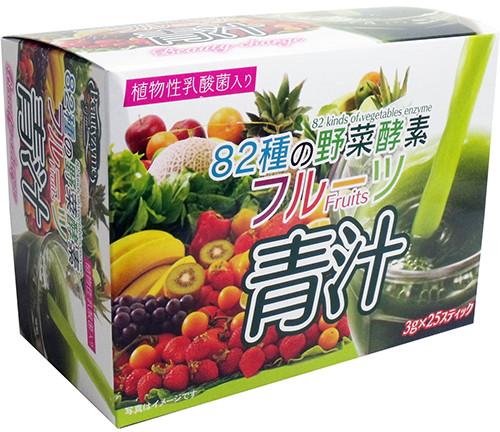 HIKARI Aojiru 82 вида растительных ферментов фруктового зеленого сока+молочнокислые бактерии, 25 шт по 3 г