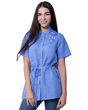 Річна блуза льняна з вишивкою (розміри XS-3XL)