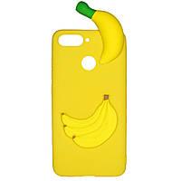 Чехол Cartoon 3D Case для Huawei Y7 Prime 2018 / Honor 7C Бананы