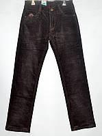 Вельветовые брюки для мальчика 6-11 лет коричневые модель - 28117