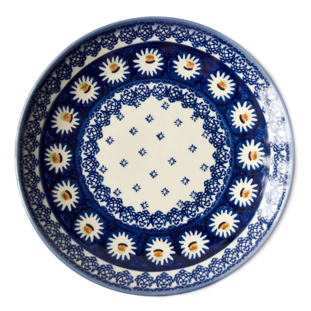 Керамическая тарелка десертная, закусочная  Ø19 Маргаритки