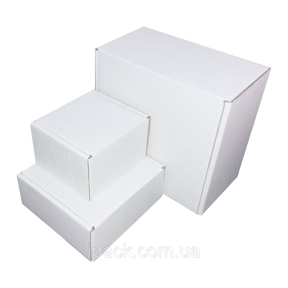 Коробка картонная самосборная, 170*170*55, мм, белая, микрогофрокартон