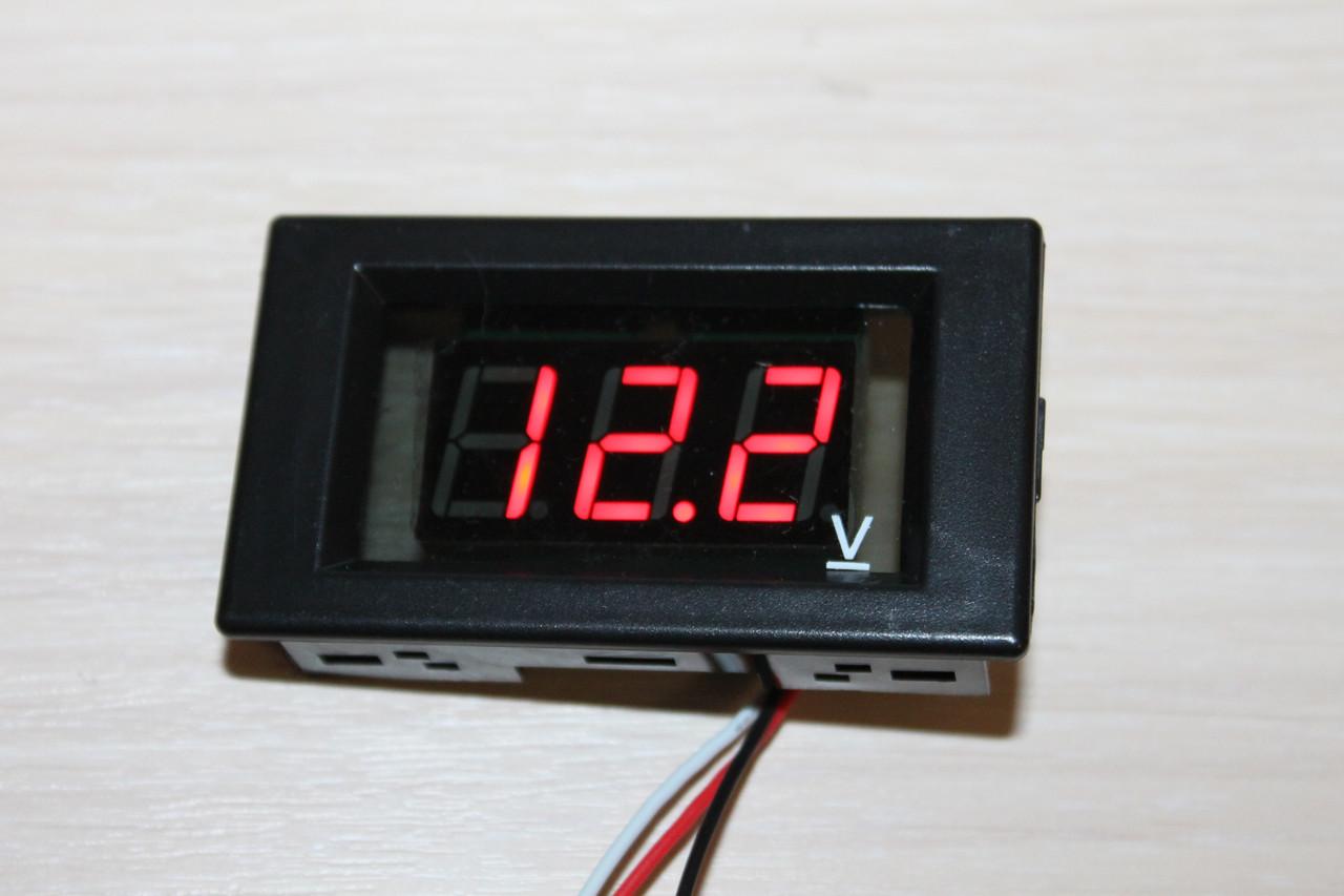 Вольтметр DC 0-110V (V85) Red цифри
