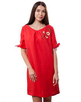 Плаття вишите вільного крою (розміри XS-2XL)