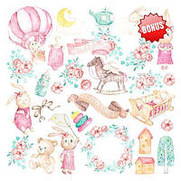 Набор скрапбумаги Dreamy baby girl 20x20 см, 10 листов