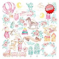 Набор скрапбумаги Dreamy baby girl 30,5x30,5 см, 10 листов