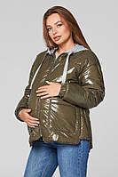 Весенняя куртка для беременных Lullababe Zaragoza (лаковая) хаки