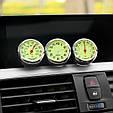 Стильный набор из 3 приборов ( Часы / Термометр / Гигрометр ) СИНИЙ ЦИФЕРБЛАТ, фото 3
