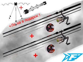 Фидерные удилища Flagman + Катушки Flagman 5000 + Подставка в ПОДАРОК !