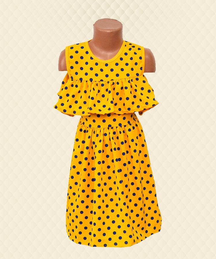 Платье для девочки с рукавом-рюшей вискоза