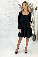 Изысканное платье с завышенной линией талии Clew - черный цвет, M (есть размеры), фото 1