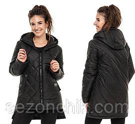 Куртка женская весенняя удлиненная молодёжная