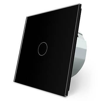 Сенсорный выключатель Livolo черный стекло (VL-C701-12)