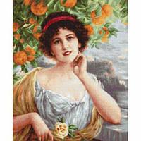 """Набор для вышивки крестом """"Красавица под апельсиновым деревом"""""""