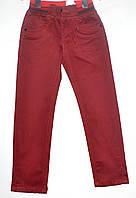 Стильные брюки для мальчика 4-6 лет бордовые модель - 28121