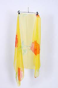 Летние брюки, штаны FAMO Парео пляжное Джулия желтое+оранжевое 102*154