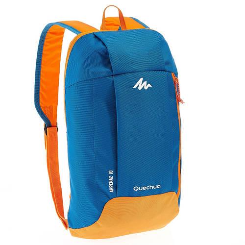 Рюкзак городской, туристический Quechua ARPENAZ 10 л. бирюзовый с оранжевым 630337