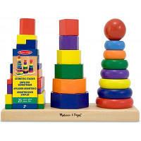 Развивающая игрушка Melissa&Doug Геометрическая пирамидка (MD10567)